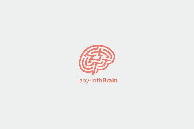 لوگو مغز به صورت وکتور و لایه باز