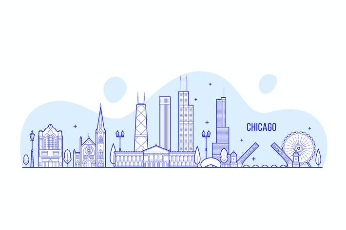 وکتور المانهای شهری شیکاگو، آمریکا